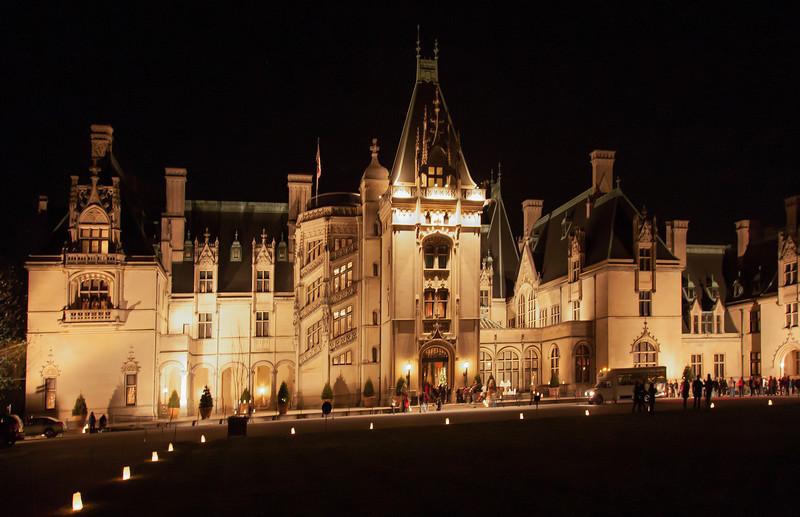 Biltmore mansion at night