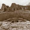 Kiva and Ruins, Aztec Ruins National Monument, NM
