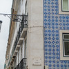 Tiled wall of building
