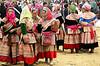 Flower Hmong women, Bac Ha market