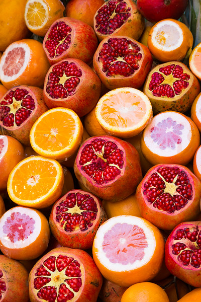 Pomegranates and Oranges for juicing