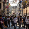 The view down Istiklal Cadessi