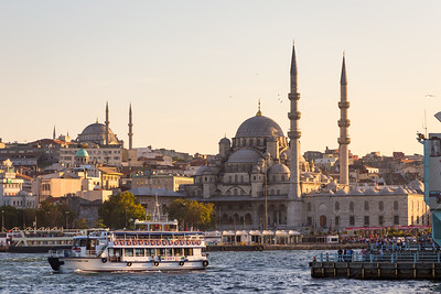 View of Yeni Cami from Galata Bridge