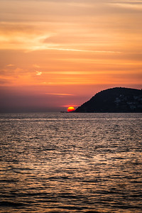 Sunset over Marmara Sea
