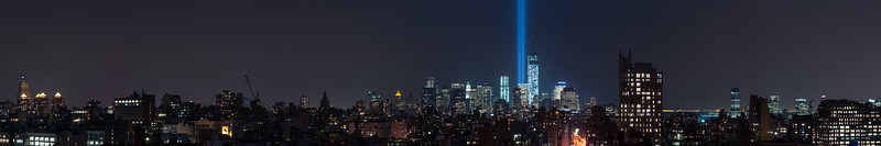 September 11 Tribute in Light, 2013.