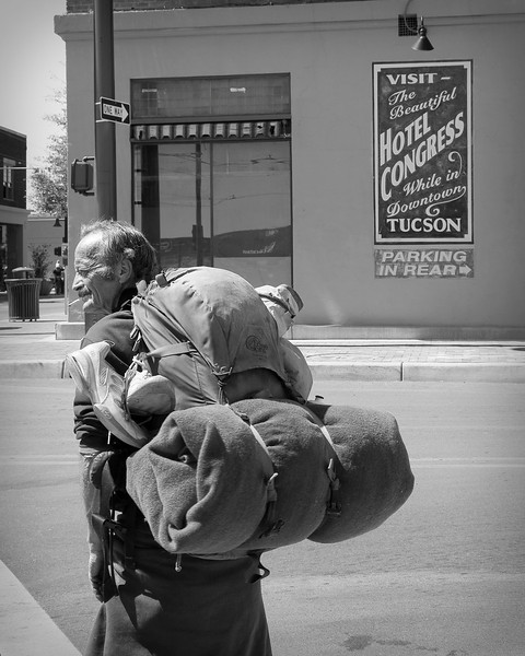 Homeless man, Tucson