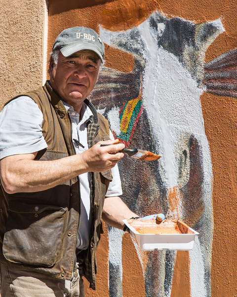 Burro Alley Mural painter
