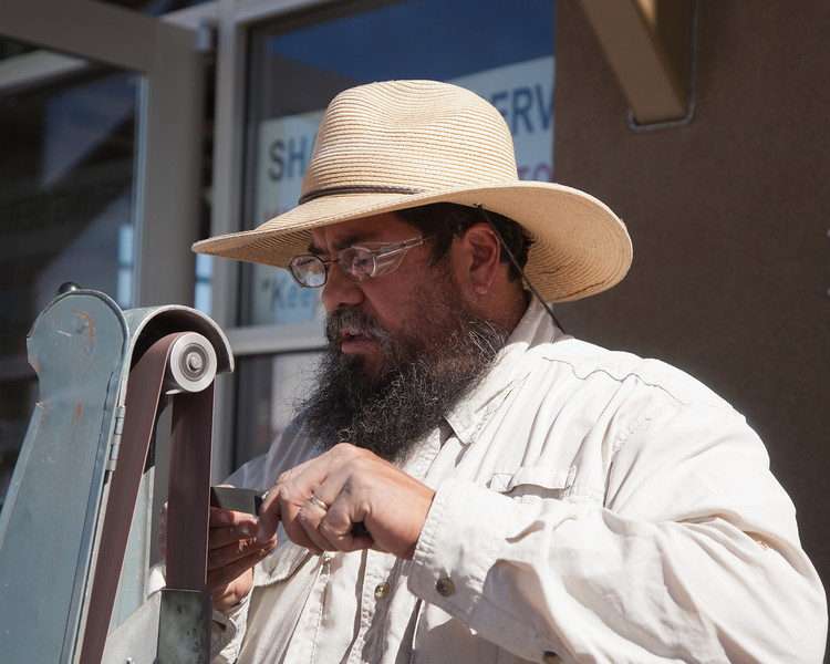 Knife sharpener, Santa Fe Farmers Market