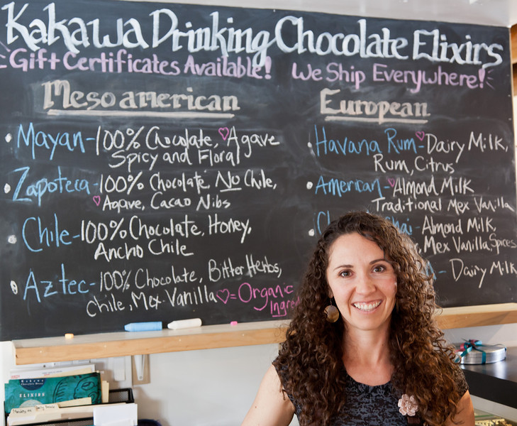 Sales person at Kakawa Chocolate Co., Santa Fe