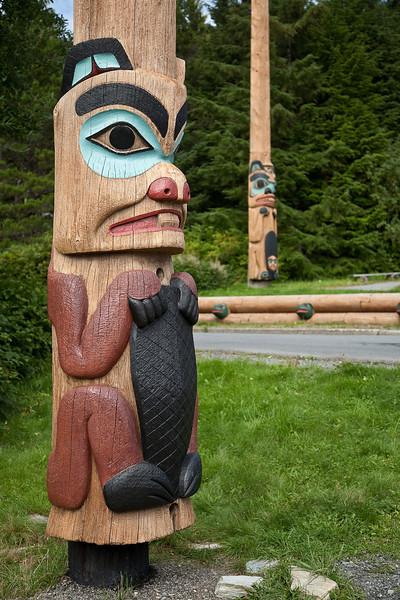 Totem at Saxman Village near Ketchikan