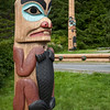 Totem at Saxman Village near Ketchikan