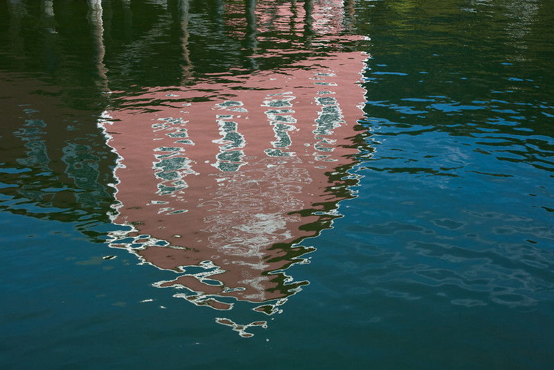 Reflection of fish cannery at Icy Strait