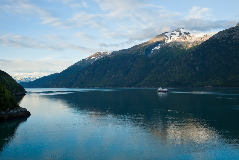 Alaska State Ferry leaving Skagway