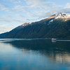 Alaska State Ferry leaving Skagway