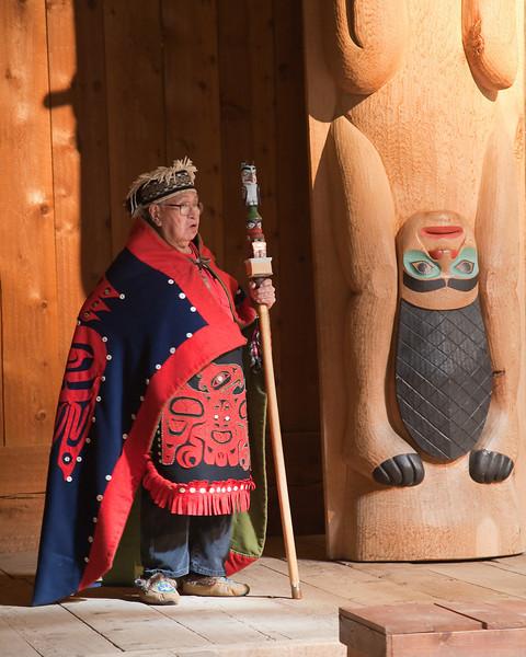 Tlingit elder at Saxman Village near Ketchikan