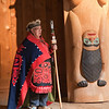 Tlingit elder at Saxman Village near Ketchikan