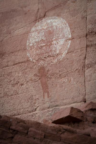 Pictograph, Honanki ruins, Sedona