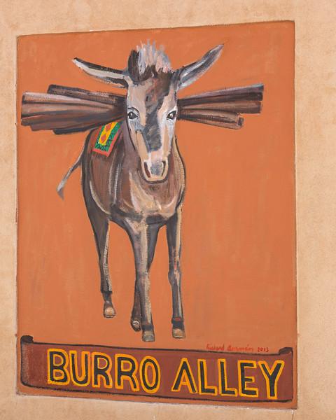 Burro Alley mural, Santa Fe