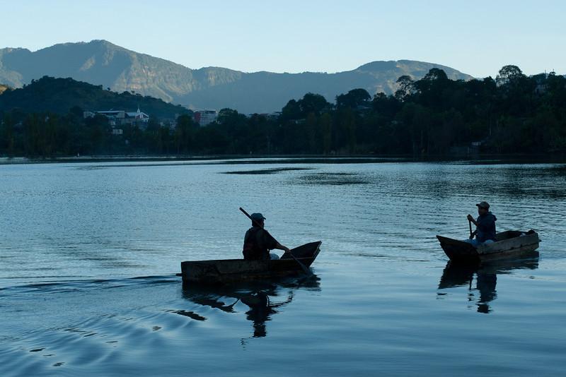 Fishermen meeting, Lake Atitlan.