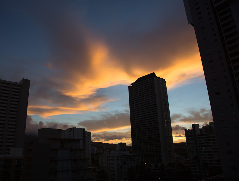 Sunrise from Courtyard Waikiki