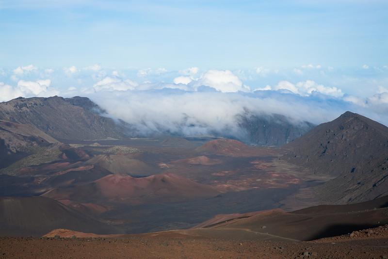 Crater. Halealaka National Park
