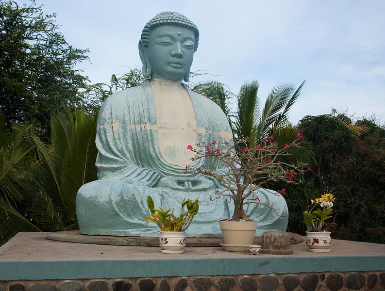 Buddha at the Jodo Buddhist Mission in Lahaina. Largest Buddha outside of Japan.