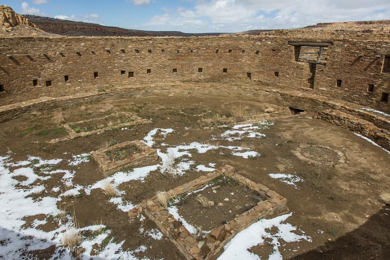 Great Kiva, Casa Rinconada,  Chaco Canyon National Historical Park, NM