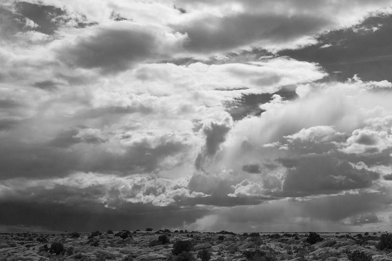 Distant storm, near Winslow, AZ