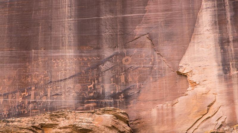 Pictographs, Canyon de Chelly, AZ