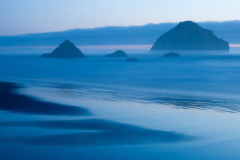 Bandon Beach at twilight