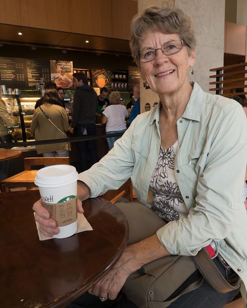 Margaret at Starbucks