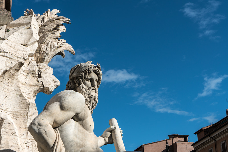 Four Rivers Fountain by Gian Lorenzo Bernini