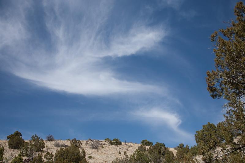 Clouds over Cerrillos Hills