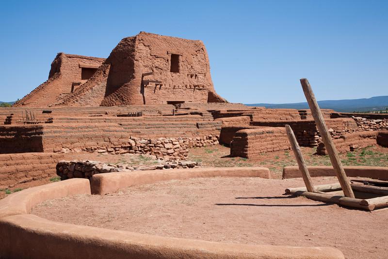 Kiva and Franciscan Church ruins, Pecos National Historic Park