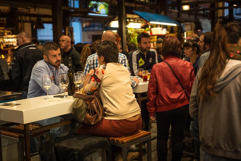 Bar scene in Madrid