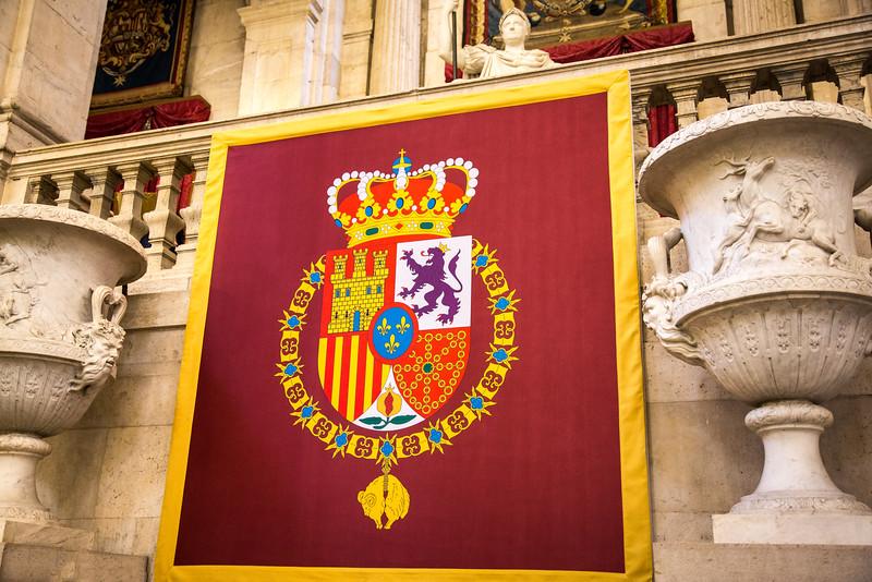 Coat of Arms, Royal Palace, Madrid
