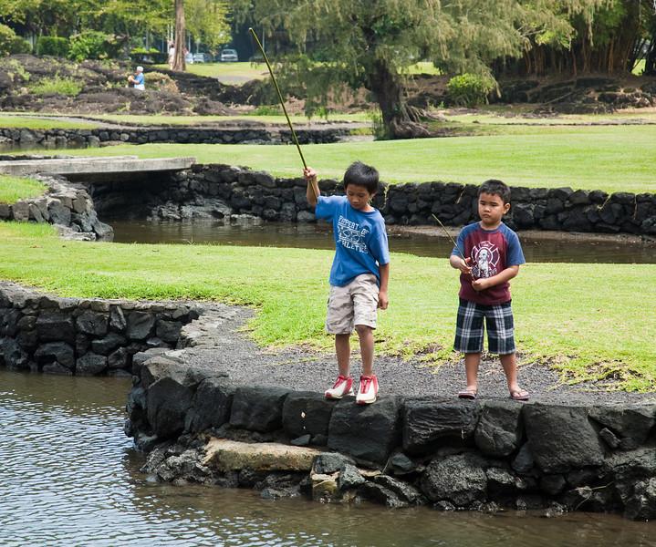 Fishing, Lili'uokalani Gardens, Hilo