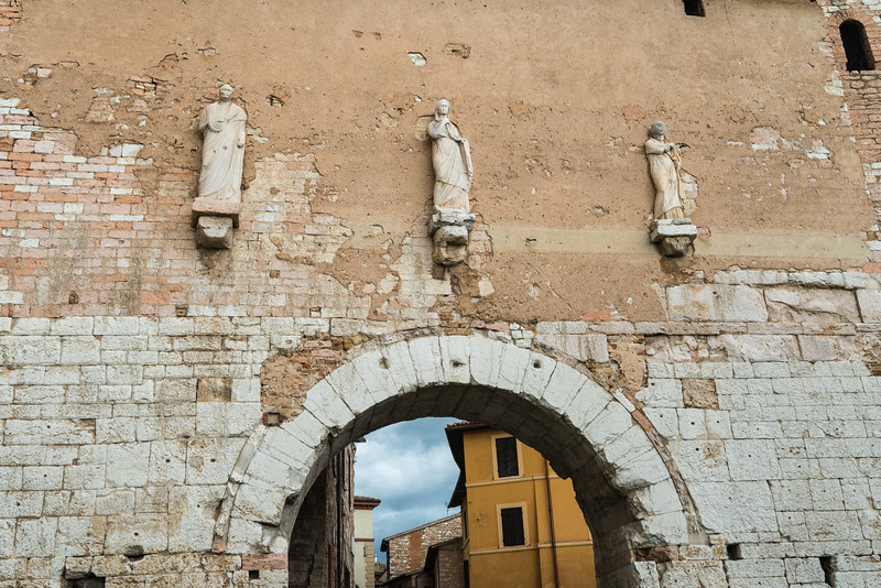 Ancient arch with statues