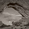 Full moon through North Window Arch
