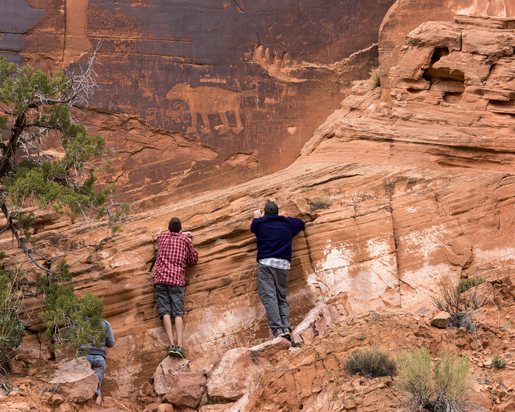 Great Bear Pictograph, Moab