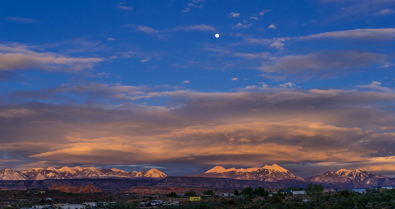 Full Moon over the La Sal Mountains