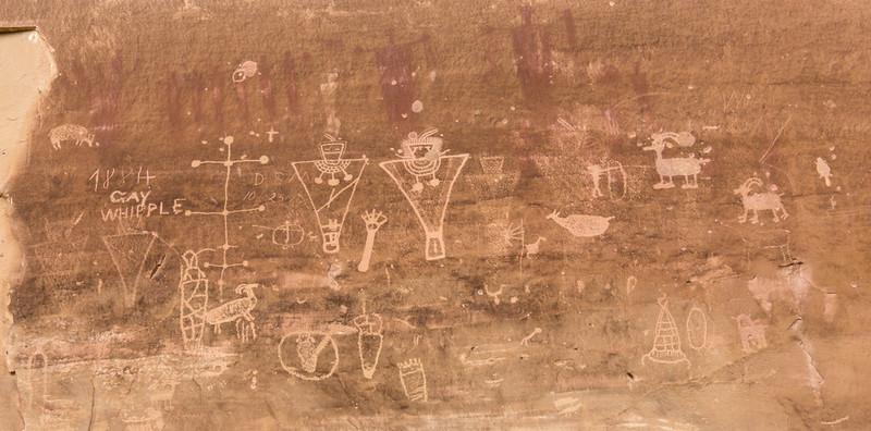 Petroglyphs and pictographs, Sego Canyon