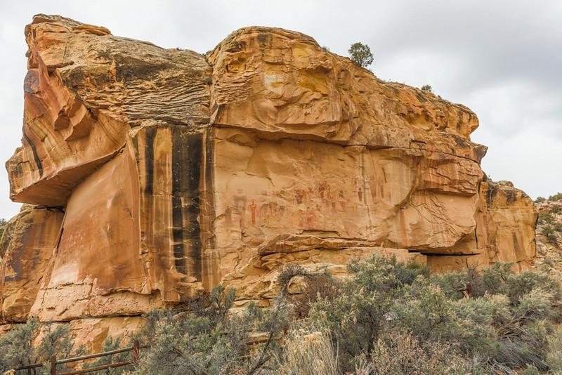 Pictograph Panel, Sego Canyon
