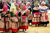 Flower Hmong women, Bac Ha market