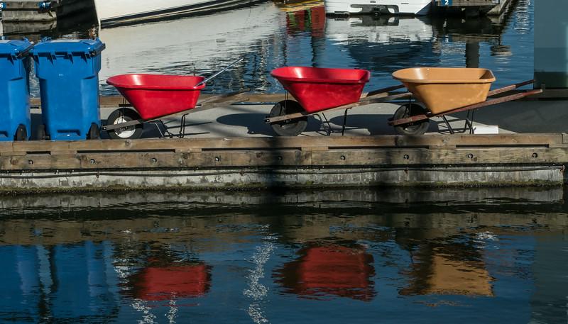 Dockside wheelbarrows