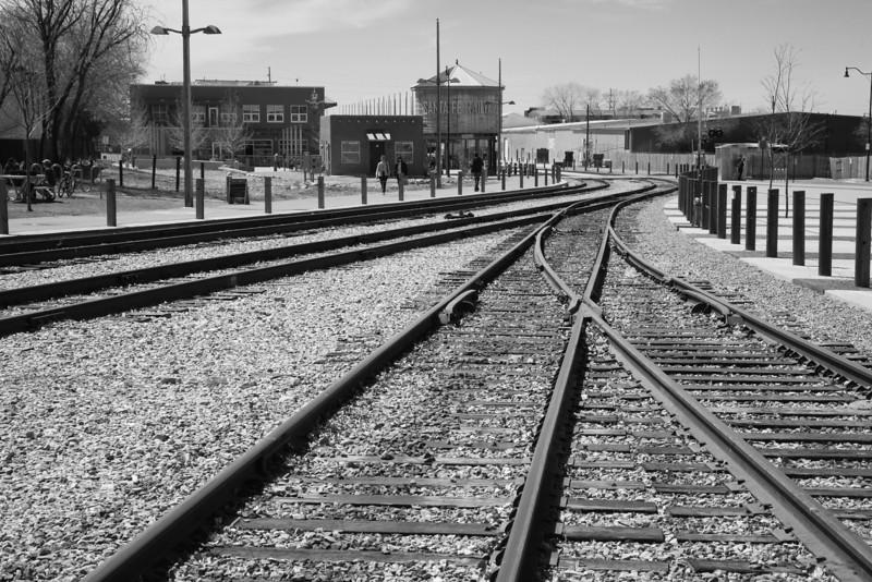 Railroad tracks, Santa Fe, NM