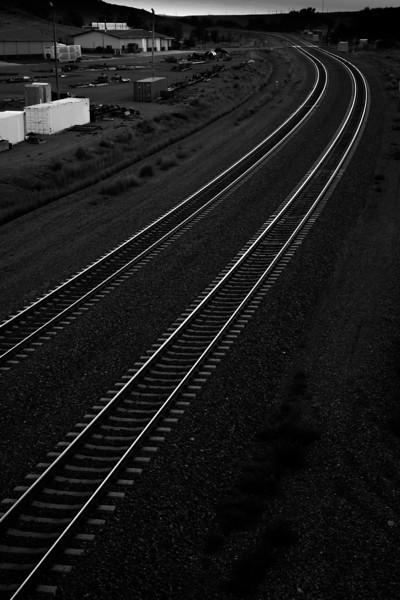 Railroad tracks, Lusk, WY