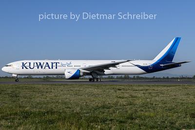 2020-04-23 9K-AOL Boeing 777-300 Kuwait Airways