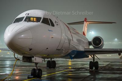 2017-02-01 OE-LFI Fokker 70 Austrian Airlines