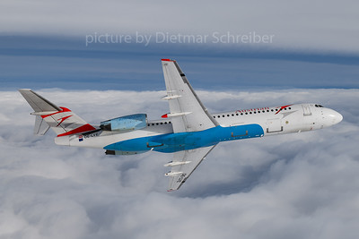 2018-01-18 OE-LVE Fokker 100 Austrian Airlines